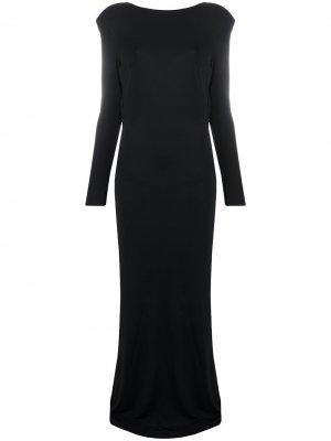 Вечернее платье Elisabetta Franchi. Цвет: черный