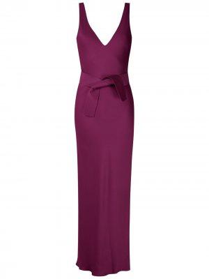 Вечернее платье с поясом Gloria Coelho. Цвет: фиолетовый