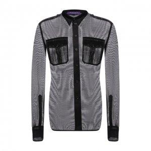 Шелковая рубашка Ralph Lauren. Цвет: чёрный