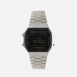 Наручные часы Collection A-168WEM-1E CASIO. Цвет: серебряный