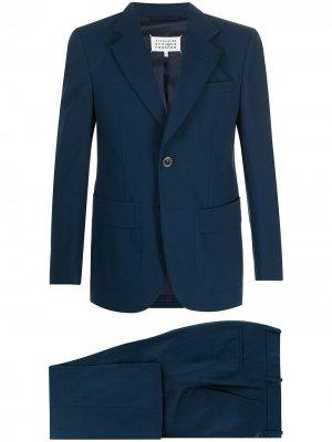 Костюм-двойка с однобортным пиджаком Maison Margiela. Цвет: синий