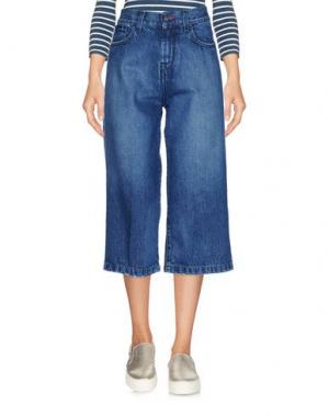 Джинсовые брюки-капри MICHAEL COAL. Цвет: синий