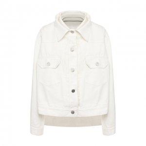 Джинсовая куртка Sacai. Цвет: белый