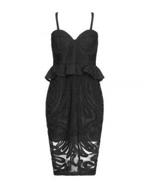 Платье до колена FOREVER UNIQUE. Цвет: черный