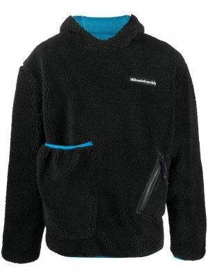 Флисовый пуловер с капюшоном Billionaire Boys Club. Цвет: черный