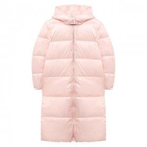Пальто с капюшоном Emporio Armani. Цвет: розовый