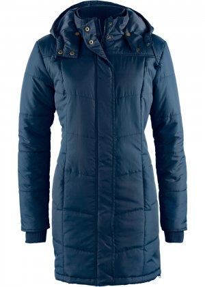 Утепленная стеганая куртка bonprix. Цвет: синий