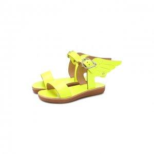 Кожаные босоножки Ancient Greek Sandals. Цвет: жёлтый