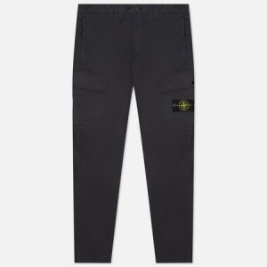 Мужские брюки Stretch Cotton Gabardine Regular Tapered Fit Stone Island. Цвет: серый