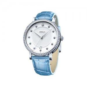 Женские серебряные часы SOKOLOV