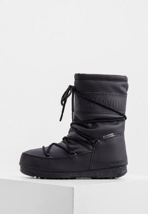 Дутики Moon Boot. Цвет: черный