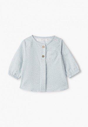 Рубашка Mango Kids - HUGO. Цвет: голубой