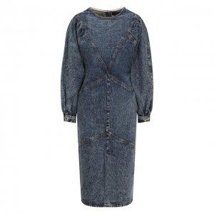 Джинсовое платье Isabel Marant. Цвет: синий