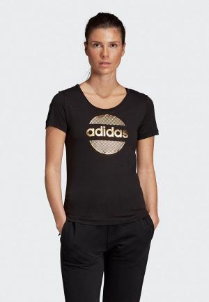 Футболка спортивная adidas Tee. Цвет: черный