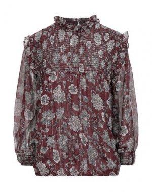 Блузка COMPAGNIA ITALIANA. Цвет: красно-коричневый