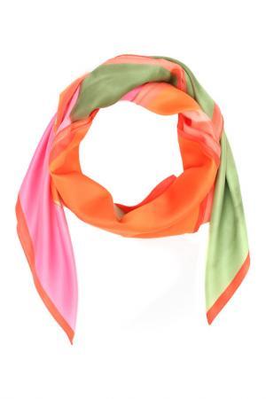 Платок F.FRANTELLI. Цвет: оранжевый, розовый, зеленый