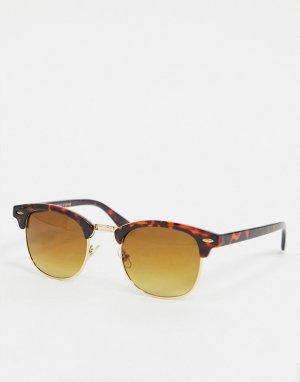 Коричневые солнцезащитные очки -Коричневый цвет Topman