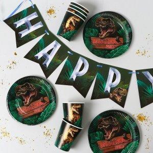 Набор бумажной посуды dangerous party, 6 тарелок, стаканов, 1 гирлянда Страна Карнавалия