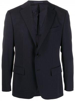 Пиджак узкого кроя Caruso. Цвет: синий