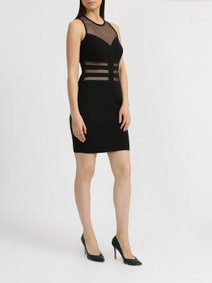 Короткое платье Rinascimento. Цвет: chernyy