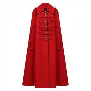 Шерстяной кейп Dolce & Gabbana. Цвет: красный