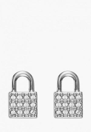 Серьги DKNY. Цвет: серебряный