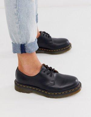 Туфли на плоской подошве с 3 парами люверсов 1461 Gibson-Черный Dr Martens