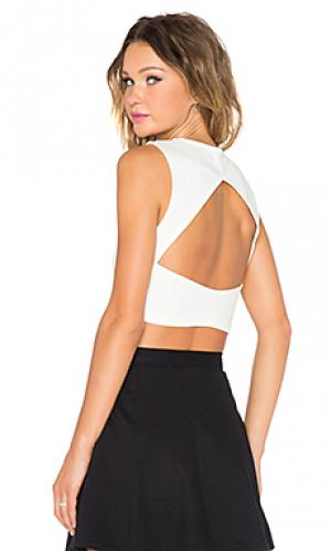 Fighting fit crop tank Evil Twin. Цвет: white