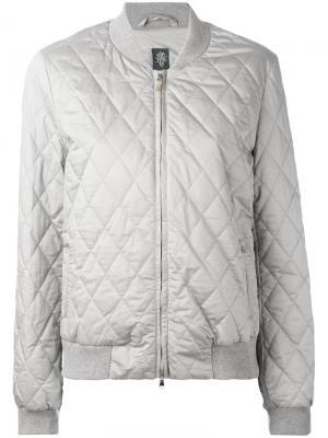Quilted bomber jacket Eleventy. Цвет: серый