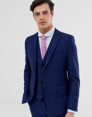 Однотонный приталенный пиджак -Голубой French Connection