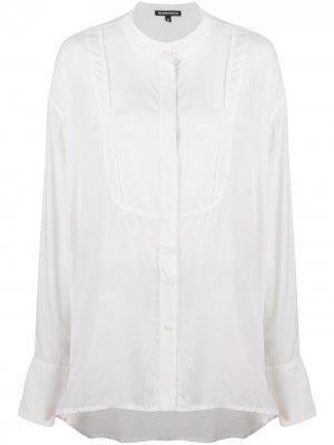 Длинная рубашка с воротником-стойкой Ann Demeulemeester. Цвет: белый