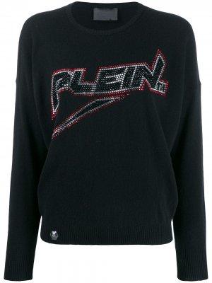 Пуловер с логотипом Philipp Plein. Цвет: черный