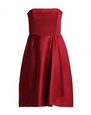 Короткое платье HALSTON. Цвет: красно-коричневый