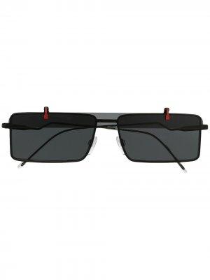 Солнцезащитные очки с откидными линзами Emporio Armani. Цвет: черный