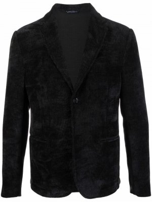 Жаккардовый однобортный пиджак Daniele Alessandrini. Цвет: черный