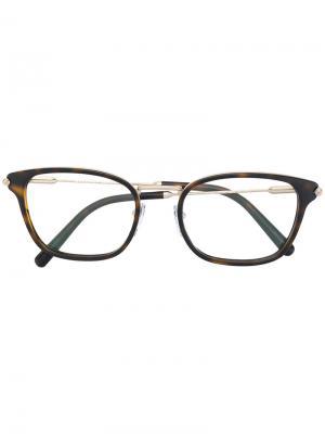 Tortoise glasses Bulgari. Цвет: коричневый