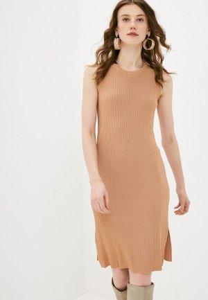 Платье Katya Erokhina. Цвет: бежевый