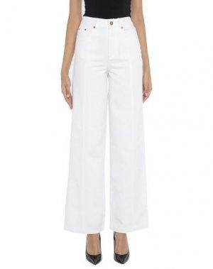 Повседневные брюки GESTUZ. Цвет: белый