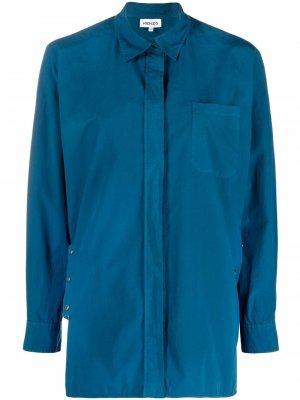 Рубашка с длинными рукавами Kenzo. Цвет: синий