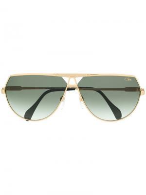 Солнцезащитные очки-авиаторы Cazal. Цвет: золотистый
