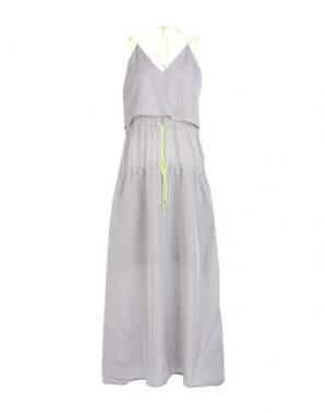 Длинное платье MARIOS. Цвет: серый