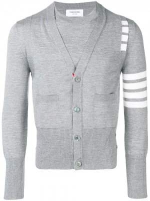 Пуловер с жилетом Thom Browne. Цвет: серый