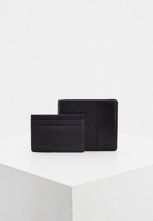 Комплект Boss подарочный, кошелек и кредитница, GbB_8cc c case line. Цвет: черный