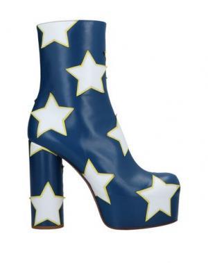 Полусапоги и высокие ботинки VETEMENTS. Цвет: синий