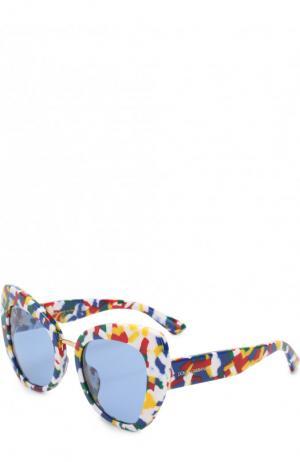 Солнцезащитные очки Dolce & Gabbana. Цвет: голубой