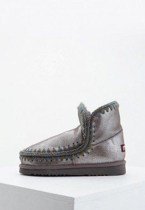 Ботинки Mou. Цвет: серебряный
