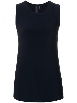 Блузка без рукавов Norma Kamali. Цвет: синий