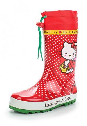 Резиновые сапоги Hello Kitty. Цвет: красный