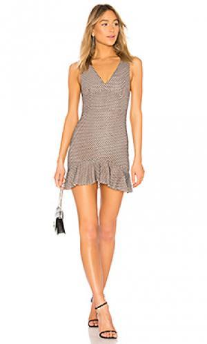 Мини-платье металлик salt shaker NBD. Цвет: черный