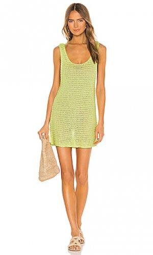 Платье-майка jagger TAVIK Swimwear. Цвет: желтый
